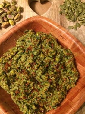 pistachio & pumpkin seed pesto 11