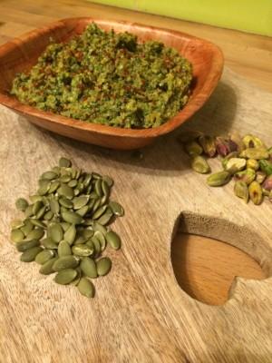 pistachio & pumpkin seed pesto 8